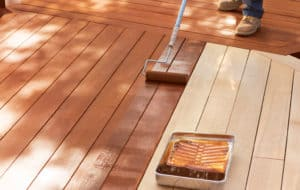deck fence staining